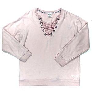 [Victoria's Secret] PINK Lattice Sweatshirt Size L